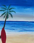 Online Painting Events - Beach Vibes