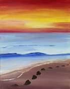 Online Painting Events - Hearts at Sunset