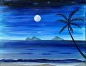 Online Painting Events - Moonlight